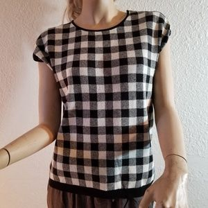 Blouse black and white warm